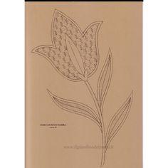 Fiore con punto Fiandra n. 138 - Il Giardino dei Punti, Circolo di ricami, pizzi e decori
