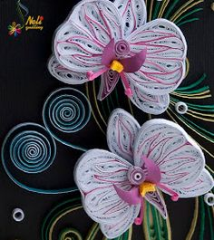 neli: Quilling card - orchids 2