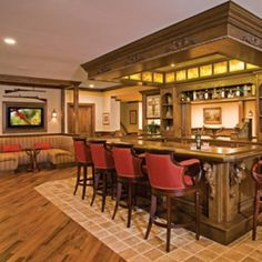 old english pub look for the basement kitchen/bar