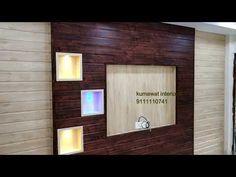 YouTube Pvc Wall Panels Designs, Lcd Wall Design, Down Ceiling Design, House Ceiling Design, Pvc Ceiling Panels, Pvc Panels, Hall Interior Design, Interior Work, Tv Wall Decor