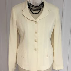Princess seaming Jacket NWOT For a flattering shaped fit beautifully tailored w/buttoned cuffs and front pockets front Lord & Taylor store. Isabel Ardee Jackets & Coats