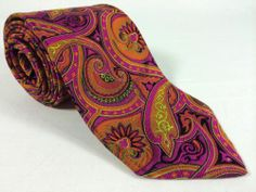 NWOT Robert Talbott Best of Class Bold Men's Tie Paisley Silk Handsewn in USA