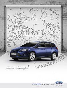 Ford Focus: Tumbling leaves