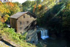You can find this enchanting waterfall on the outskirts of Youngstown, right off of U.S. 62. The waterfall and mill is within Youngstown's Mill Creek Park, the second largest metropark in the U.S. (after Central Park in New York City), and it's a true gem amid the hustle and bustle of the city.