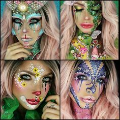 """316 Likes, 23 Comments - -- Da Dollitaz -- (@dadollitaz) on Instagram: """"My final 4 entries for #vaglittercraycontest ...Had so much fun creating these 4 looks,especially…"""""""