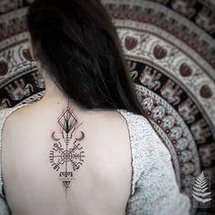 Photo by (whispersofstones) on Instagram | #tattoo #tattoooftheday #tattoos #tattooartist #tattooworkers #warsawink #warsawtattoostudio #girlswithtattoos #womentattoo #warsaw #ink #polishtattooartist #nature #naturetattoo #tattoolifemagazine #vegvisir #dotwork #dotworktattoo Viking Tattoo Sleeve, Viking Tattoo Symbol, Pagan Tattoo, Norse Tattoo, Sleeve Tattoos, Thai Tattoo, Maori Tattoos, Tattoos For Women Small, Small Tattoos