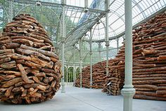 """En Las Entranas del Arbol"" Installation by Andy Goldsworthy ~ Palacio de Cristal in Madrid, Spain"