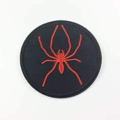 New to craftapplique on Etsy: Spider patch punk patch embroidered patch Full embroidery iron on patch sew on patch (A90) (2.50 USD)