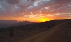 Jebel Shams Sunset Panorama, Oman