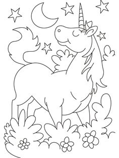 Unicorn Coloring Page | Worksheets, Unicorns and Unicorn party