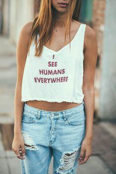 Brandy ♥ Melville | Mirella I See Humans Tank - Graphics