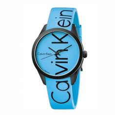K5E51TVN Μοντέρνο ανδρικό γυναικείο ρολόι CALVIN KLEIN Color σε μαύρη κάσα, σε μπλε ανοιχτό/γαλανό χρώμα καντράν και καουτσούκ   ΤΣΑΛΔΑΡΗΣ Χαλάνδρι #Calvin #Klein #color #σιλικονη #ρολοι