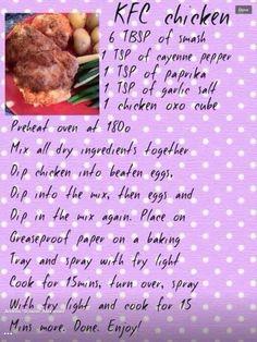 Slimming world, kfc, chicken, recipe, easy
