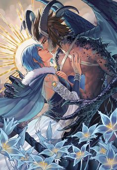 Terra Kingdom Hearts, Vanitas Kingdom Hearts, Kingdom Hearts Games, Kingdom Hearts Fanart, Anime Couples Manga, Cute Anime Couples, Anime Girls, Kh Birth By Sleep, Bokuto X Akaashi