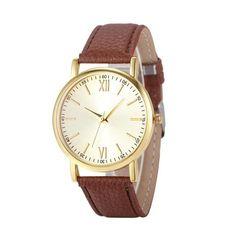 2017 Women's watches Retro Design saat Leather Band Clock Analog Alloy Quartz Wrist Watch M29