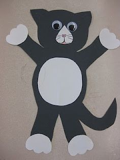 Hmm.... Could cut out lots of different coloured pieces of the cat and let the kid build their own kitty!