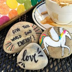 Word Rocks!: Word Rocks left at Leucadia