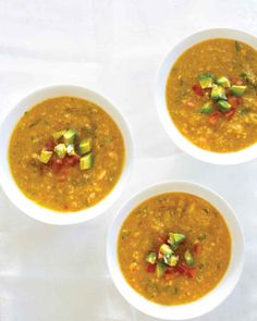 Sweet peaches replace traditional tomatoes in this savory fruit soup.