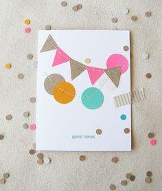 Bunting & confetti card