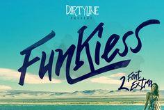 Funkiess - Display Typeface + Bonus by Dirtyline Studio on @creativemarket