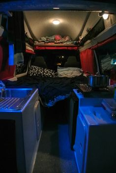 The interior of our Campervan while Camping in New Zealand #campervan #freedom