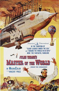 Master of the World (1961) USA AIP Fantasy Disaster. Vincent Price, Charles Bronson. 16/02/06