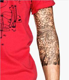 Japanese style 3/4 tattoo sleeve.