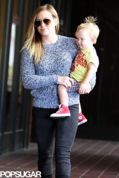Baby Mama | Hilary Duff took her son, Luca Comrie, out to run errands in LA.