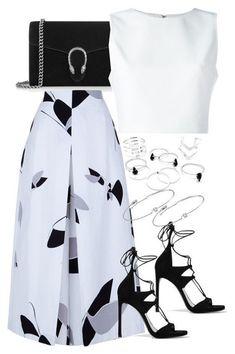 Gucci, Alice + Olivia, Stuart Weitzman, TIBI and Amorium Lila Outfits, Classy Outfits, Skirt Outfits, Stylish Outfits, Mode Chic, Mode Style, Love Fashion, Fashion Looks, Womens Fashion