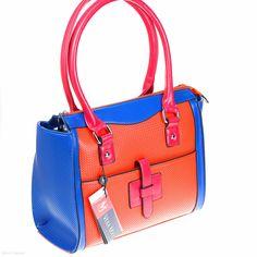 Cara Tote (Orange/Blue)