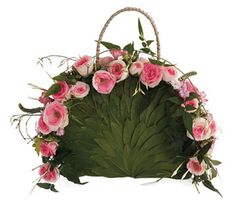 DIY - Step by step instructions - An idea for a little flower girl ... this 'purse' is actually florist oasis and tiny spray roses - instructions for making this on site