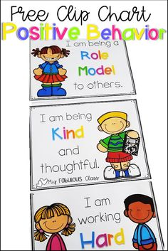 Free Clip chart for Positive Behavior - Tips and Tricks for creating a positive classroom environment, back to school, classroom organizati - Kindergarten Behavior Charts, School Behavior Chart, Positive Behavior Chart, Preschool Behavior Management, Behavior Management Chart, Classroom Behavior Chart, Positive Behavior Management, Kindergarten Classroom Management, Behavior Clip Charts