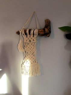 Small Handcrafted Macrame Wall Hanging  Boho/Natural Style