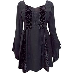 eaonplus BLACK Embroidered Renaissance Gothic Corset Tunic Top - Plus... ❤ liked on Polyvore featuring tops, tunics, gothic corsets, embroidered tunic, renaissance tunic, women's plus size tops and plus size renaissance corset