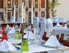 Avli Lounge Apartments Crete terrace table settings