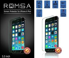 iPhone 6 Plus Screen Protector By Romsa - Oleophobic and Scratch Resistant Screen Protector - Durable Shatter Resistant Tempered Glass Shield for iPhone 6+ 5.5 Inch - Rounded Edges for Perfect Fit - Lifetime Replacement 100% Guarantee! ROMSA http://www.amazon.com/dp/B00VSAZHJK/ref=cm_sw_r_pi_dp_ZvIAvb1XDK7KV