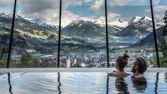 In an elevated location above Kitzbühel, the Austria Trend Hotel Schloss Lebenberg Superior Kitzbühel offers panoramic views of the Kitzbühel Alps. Hotel In Den Bergen, Spa Hotel, Austria Travel, Travel Magazines, Central Europe, Alps, Best Hotels, Adventure, World