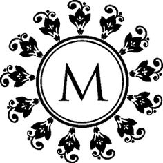 Our M Flowers Round Monogram Stamp comes with color options to add your own personal touch! Make your customized mark on envelopes, invitations, letters, and more!