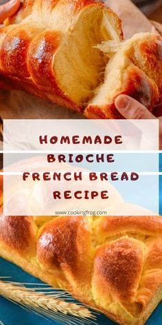 Homemade Brioche, Easy French Bread Recipe, Homemade French Bread, Best Bread Recipe, French Brioche, Healthy Bread Recipes, Cooking Recipes, Respect, Tejidos