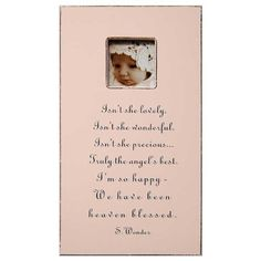 Isn't She Lovely Rectangle Picture Frame
