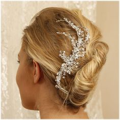 Bridal headpiece bridal comb crystal comb Crystal by GlamDuchess, $150.50