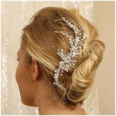 Bridal headpiece bridal comb crystal comb Crystal by GlamDuchess, $150.50