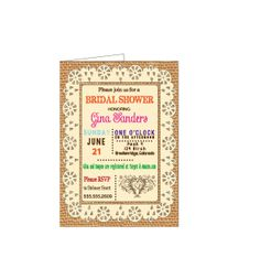 DIY Printable Burlap  Invitation Template Party by TheVintagePen, $5.00