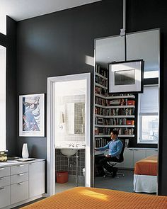 Similar color - Benjamin Moore Iron Mountain 2134-30 - goes well with orange.