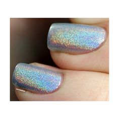 ILNP MEGA 100% PURE Ultra Holographic Nail Polish (665 INR) ❤ liked on Polyvore featuring beauty products, nail care, nail polish and nails