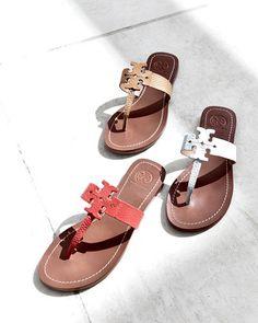 Tory Burch logo thong sandal