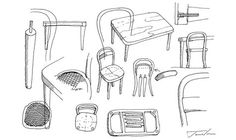 James Irvine's sketches of his bentwood designs - in terms of bang for your buck, you'd be hard pushed to find a more beautifully finished, reasonably priced collection of furniture on the market