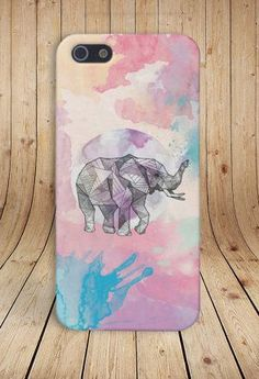 Geometric Pastel Elephant Case for iPhone 6 6 Plus