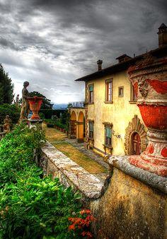 Villa Gamberaia, province of Florence, Tuscany region Italy