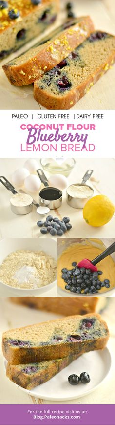 Grab your blueberries—you are about to bake the best Paleo Blueberry Lemon Bread you've ever tasted! For the full recipe, visit us here: http://paleo.co/lemonberrybread